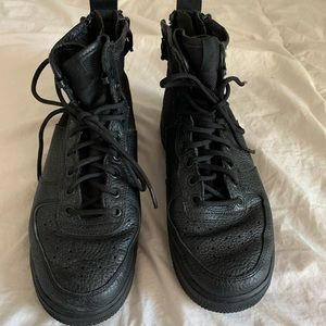 Tall black Air Force ones